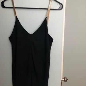 Express blank tank with Gold chain style straps.